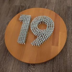 Huisnummer bordje blanck
